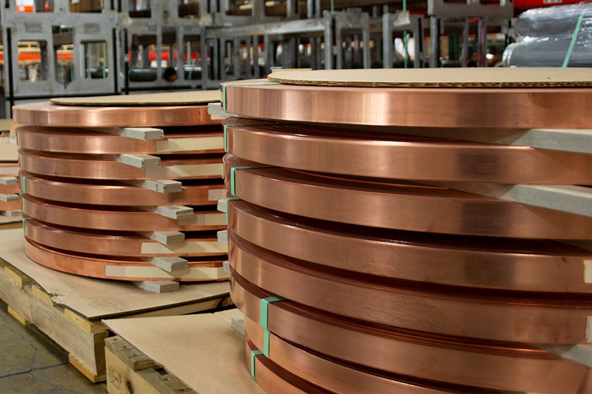 Bulk Copper Slit Rolls